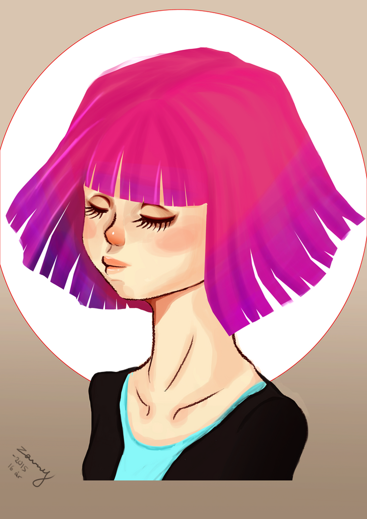 Pink Hair by zenny-yumme