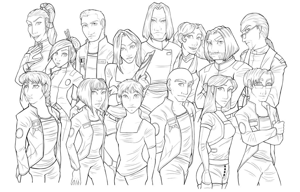 Line Art Group : Rfi group lineart by leftiesrevenge on deviantart