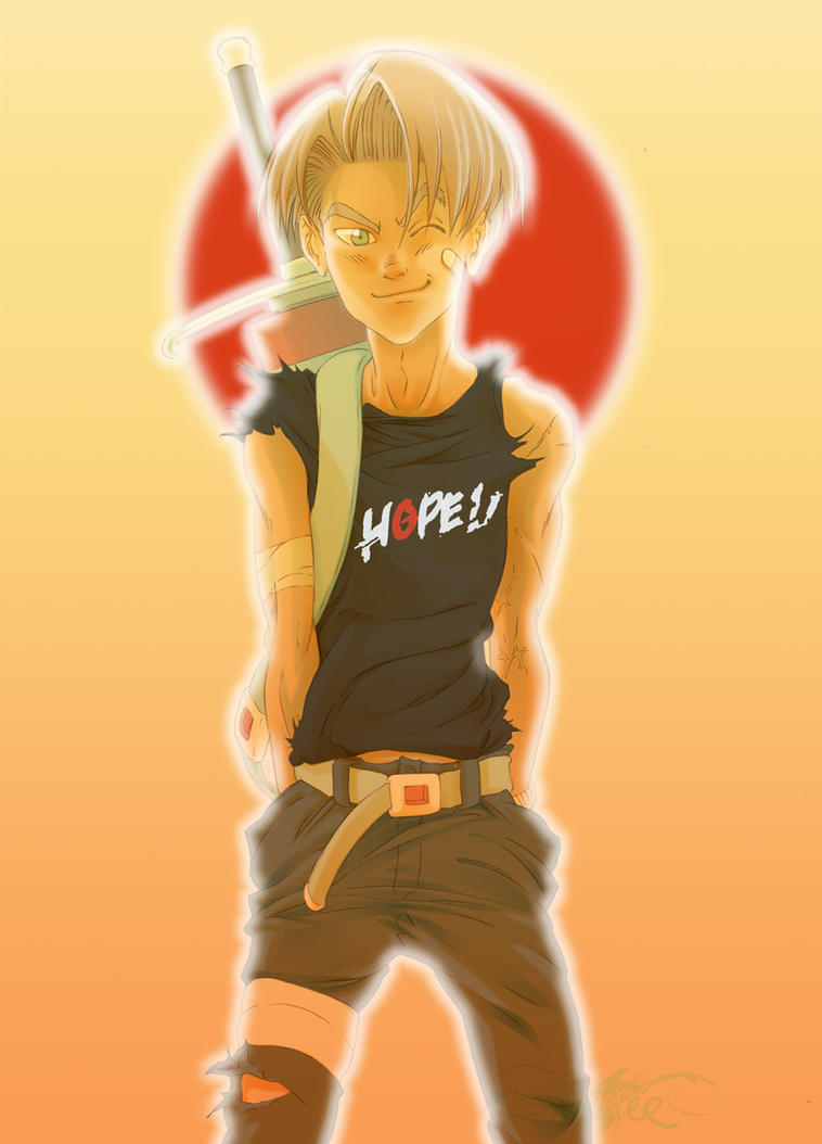 Trunks hope for Japan by nenee