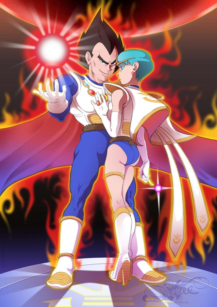 Royal King Vegeta and Queen Bulma by nenee