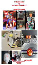 *** AWESOME COSPLAY: Queenn Bulma - PROCESS ***
