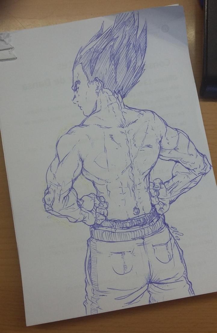 Vegeta sketch 19-01-17 by nenee