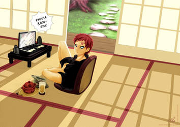Gaara's breaking time by nenee