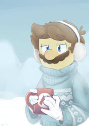 Mario in the Snow by Alomaire