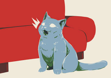 Hungry Cat by Alomaire