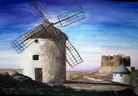 Consuegra Windmills by AHalfEatenTwinky