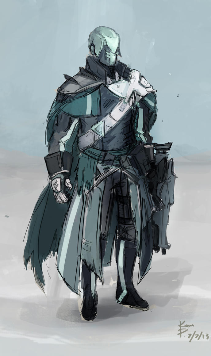 Warlock Sketch by AHalfEatenTwinky