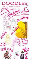 Doodle dump - birthday + 2014 second half edition
