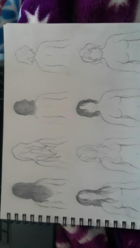 Hair Style Practice by Shmegicorn