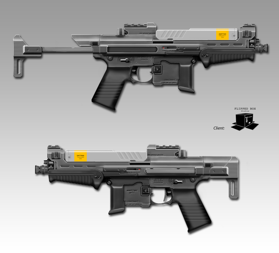 United Federation of Red Sun Systems Weptec_mp7_t_sideviews_by_nerdwerk-d6riian