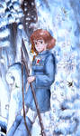 Nausicaa in the forest