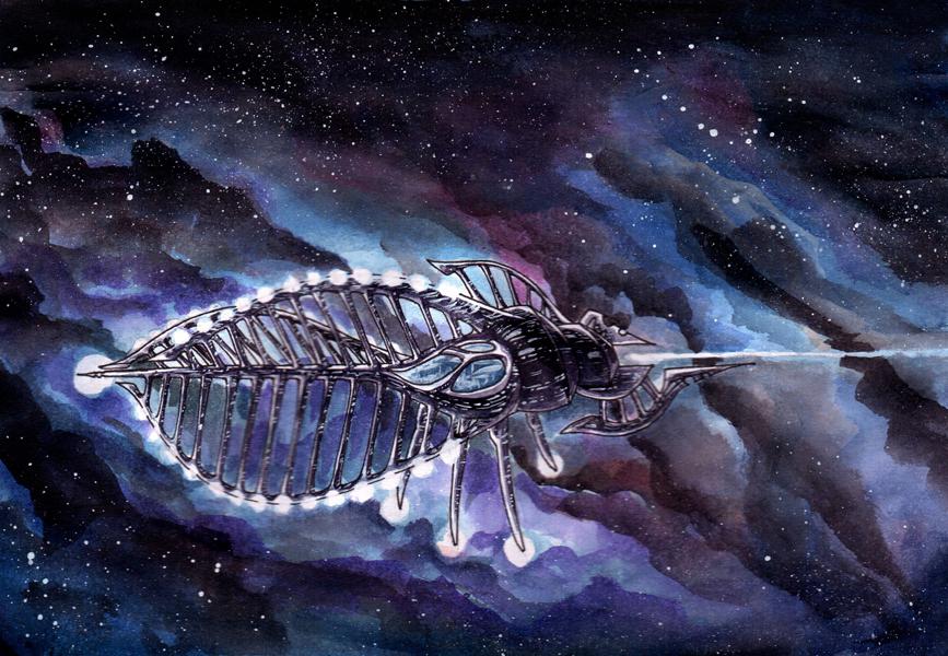 Another spaceship by sphodromantis