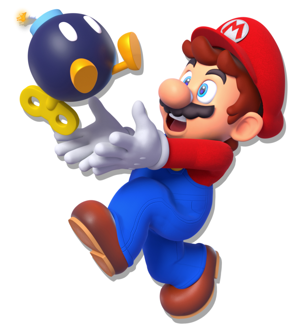Mario with a bomb Render Remake