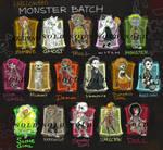 OPEN (3/16) SET PRICE HalloweenMonsters (usd/pts)