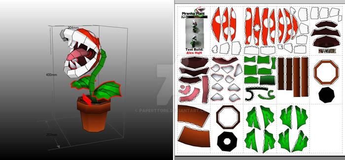 Piranha Plant Papercraft