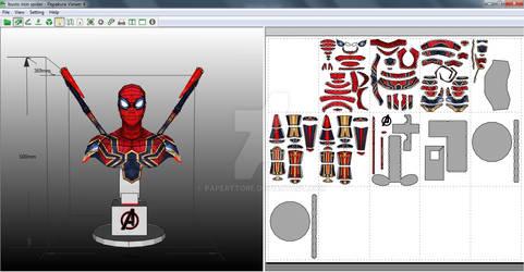 Bust Iron Spider (MCU) Papercraft
