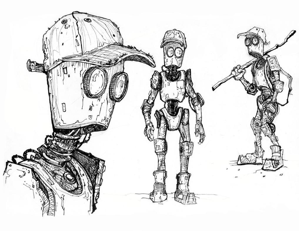 Robot Sketch By TylerJustice On DeviantArt