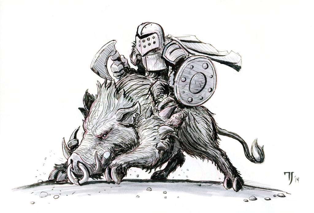 Boar Rider by TylerJustice