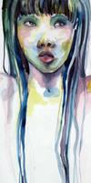 watercolor self portrait 1