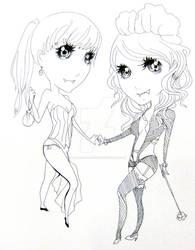 yami+sandy chibis