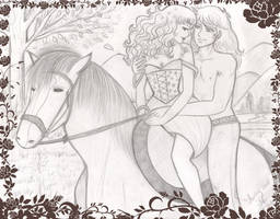 Paseo a caballo_Albert y Candy by Lorelei2323