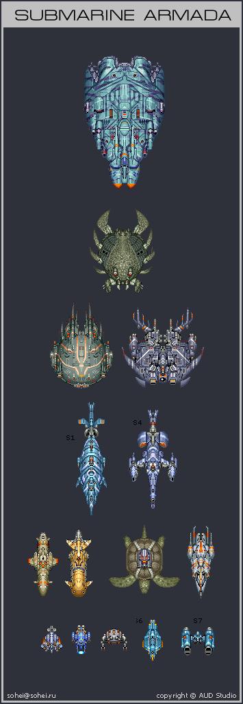 Submarine Armada by iSohei