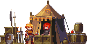 travelling merchant camp