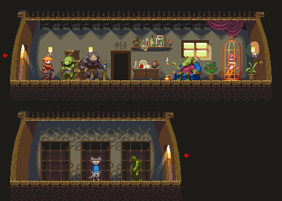 Inside slaver 39 s house by isohei on deviantart for Pixel people interior designer