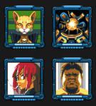 Space Criminal 64x64 portraits