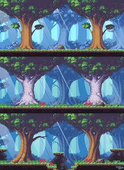 Metroidvania: Forest level