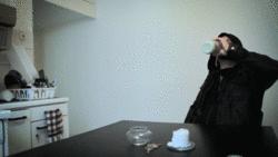 drinking milk like a boss animated by Blackg1rl