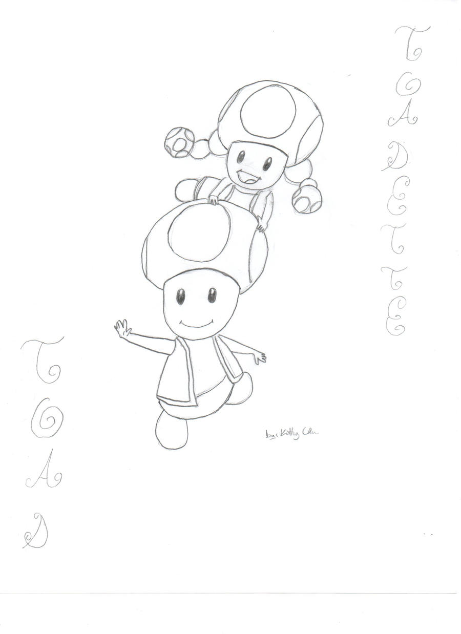 Toadette coloring pages for Toad and toadette coloring pages