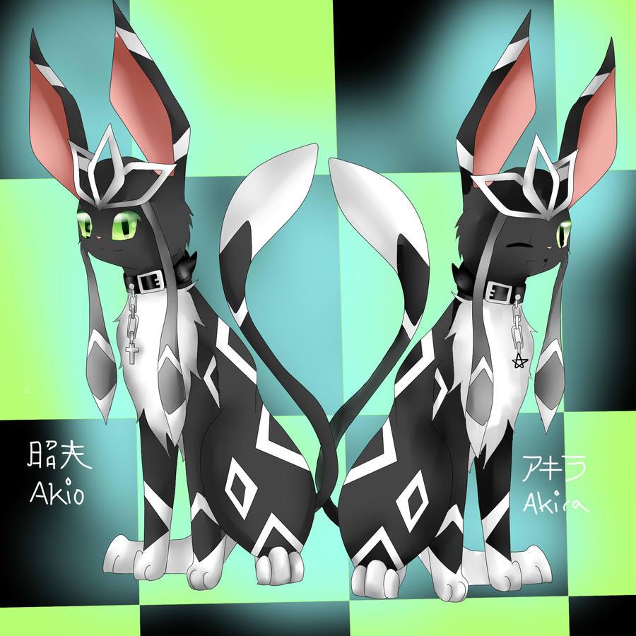 Umbreon Sfm: Glaceon-Umbreon Hybrid Characters Akira+Akio By EeveeX99