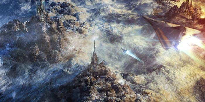 Snow Tempest In The Alien Sahara