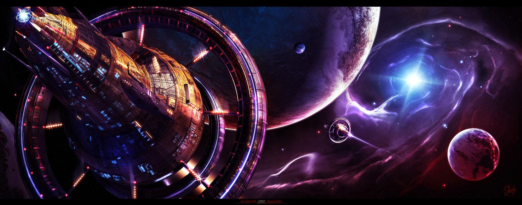 In Cyclops's Space Den by Shue13