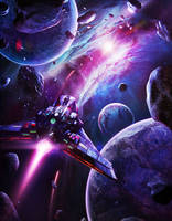 Lost In A Purple Space by Shue13