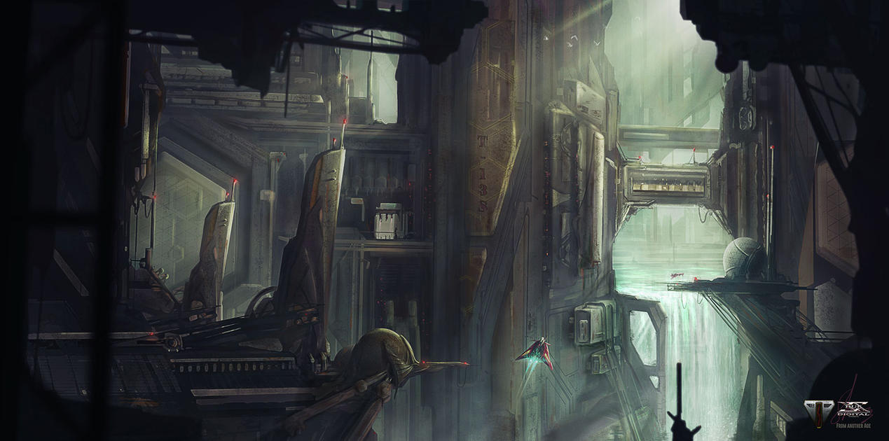 From Another Age - Concept Art 1 - MECHCITY by Shue13