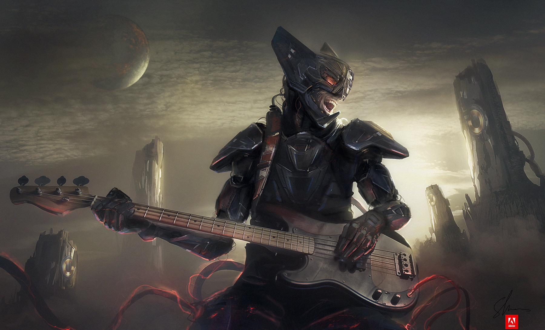 The Space Bassist by Shue13