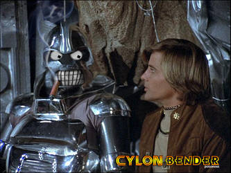 Cylon Bender with Starbuck by PZNS