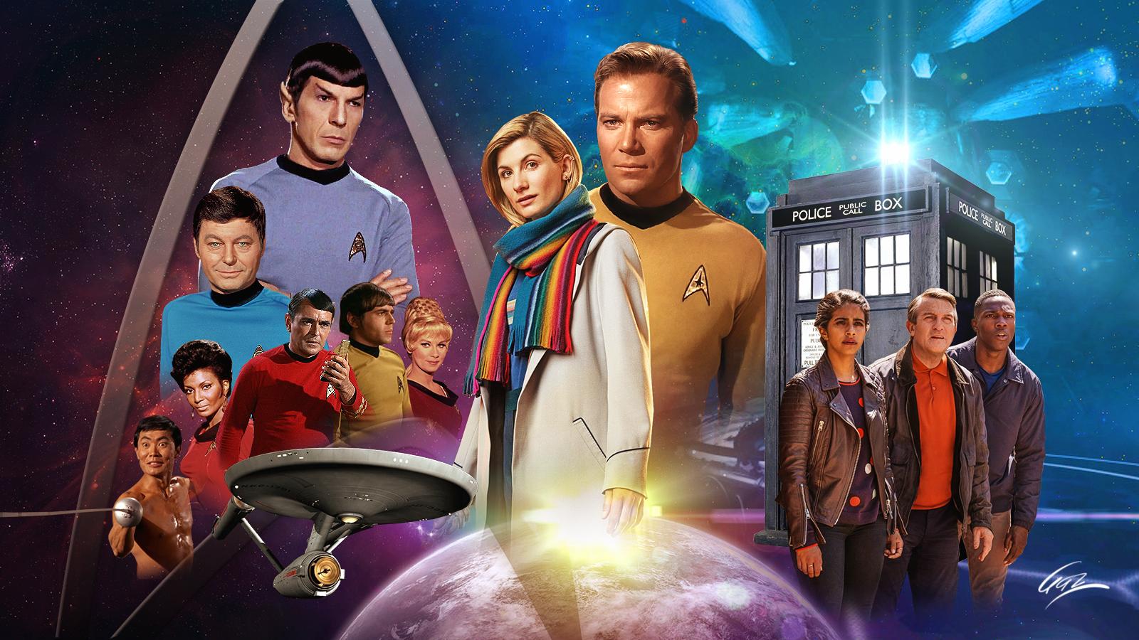 Star Trek Dr Who Wallpaper By Pzns On Deviantart