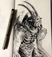Moleskine sketch by UrbanKnightArt