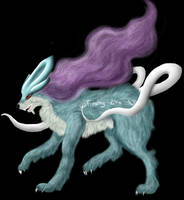 Suicune Wolf by Freaky--Like--Vivi