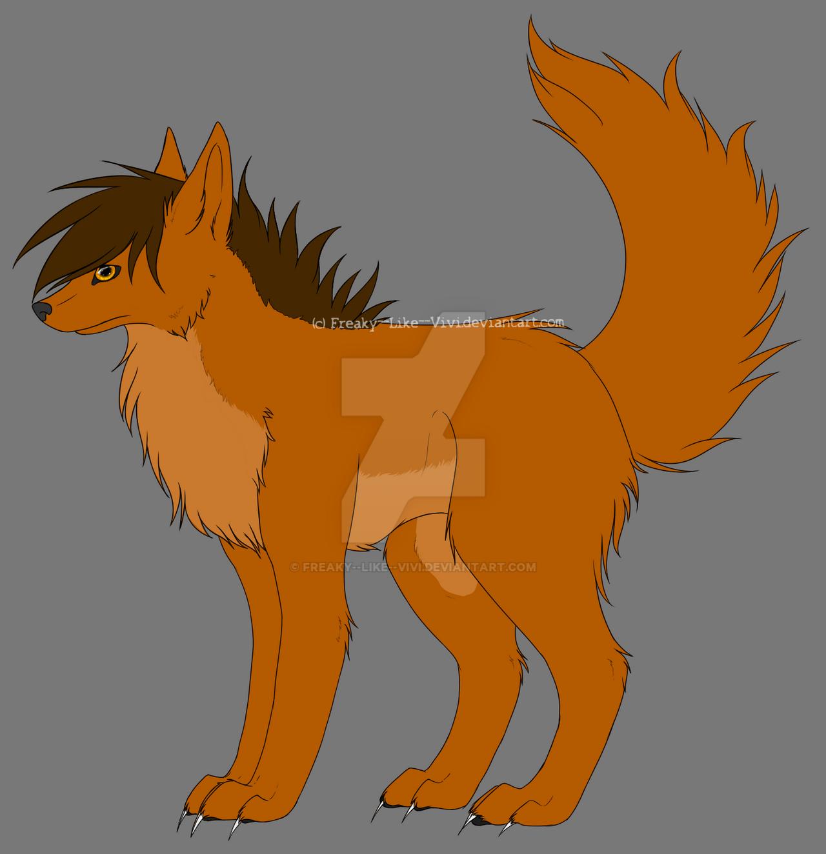 Canine Lineart by Freaky--Like--Vivi