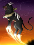 When the sun goes down.... -Houndoom-