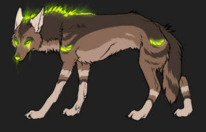Glowing canine adoptable by Freaky--Like--Vivi