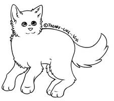 Free Dog Lineart by Freaky--Like--Vivi
