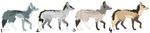 4 Canine Adoptables by Freaky--Like--Vivi