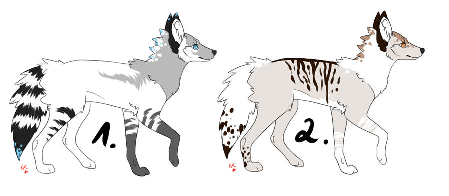 2 Dog Adopts CLOSED by Freaky--Like--Vivi
