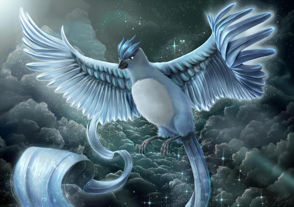 Pokemon - Articuno Above the Nightsky by anime4ewa