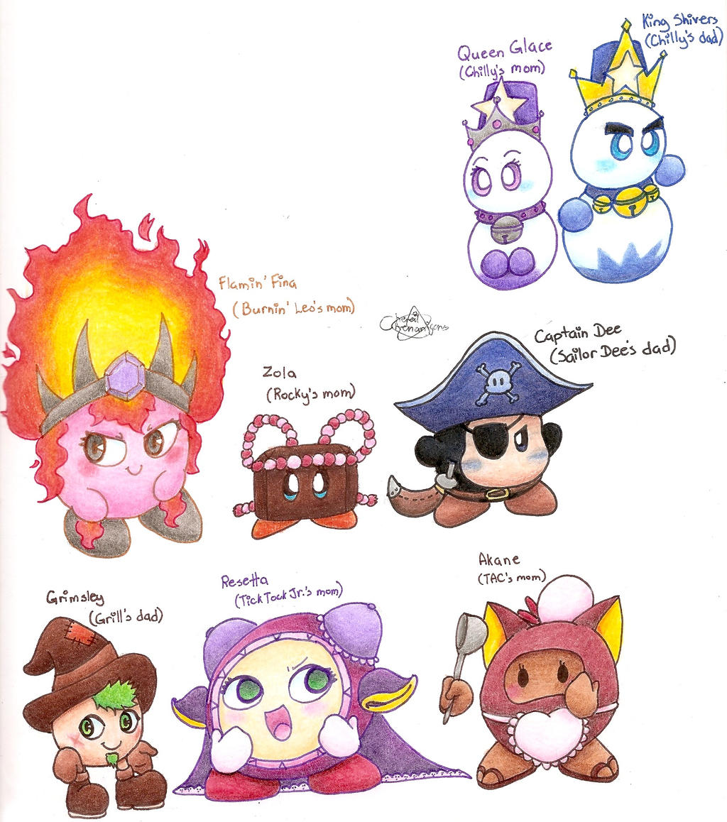 Kirby Character Parents by Chenanigans on DeviantArt
